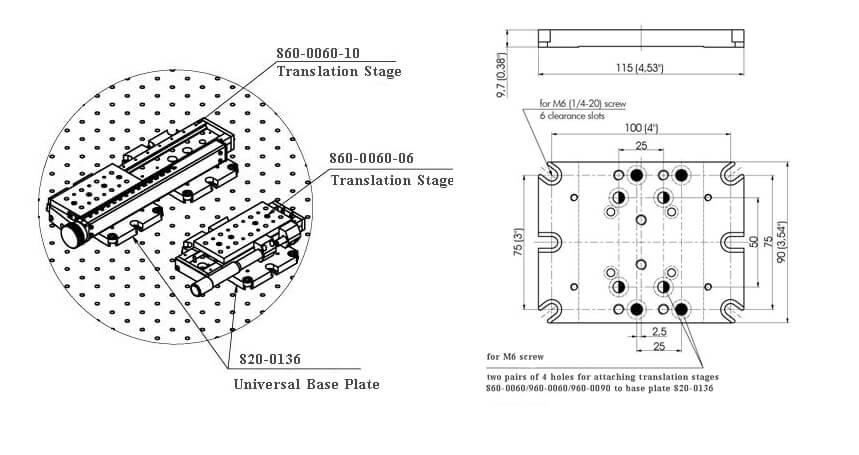 Medium (width 50 mm) Aluminium Translation Stages 860-0060