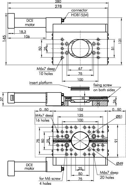 Motorized Translation Stage 960-0070-04