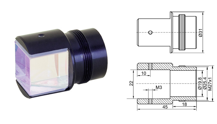 Non Polarizing Broadband Cube Beamsplitters Eksma Optics