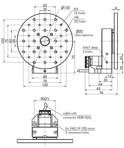 Universal Motorized Rotation Stage Motorized Positioners